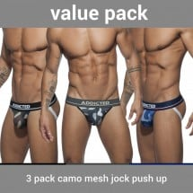 Jocksy Addicted AD700P Camo Mesh Jock Push Up 3 ks