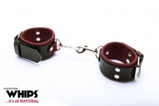 Whips Leather Handcuffs with Snap Hook for Her