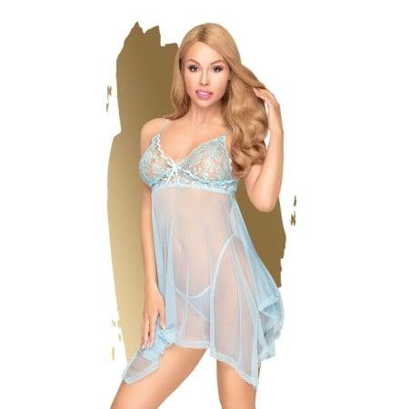 Set erotického prádla Penthouse Naughty Doll modrý
