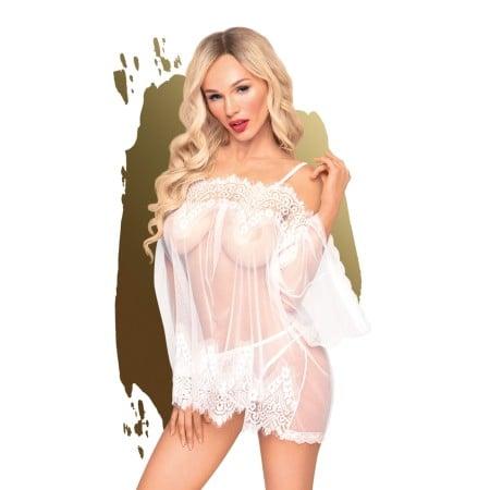 Set erotickej bielizne Penthouse Lip Smacker biely