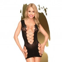 Penthouse Flame on the Rock Dress Black