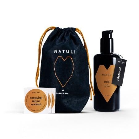 Lubrikační gel na olejové bázi Natuli Premium Ritual Gift 200 ml