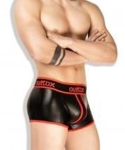 Outtox TR141-10 Wrapped-Rear Trunk Shorts Red