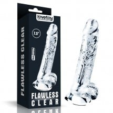 Gelové dildo Lovetoy Flawless Clear 7.5″
