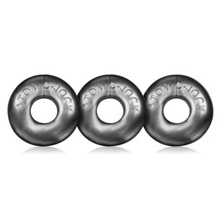 Oxballs Ringer Cock Rings 3-Pack Silver Steel