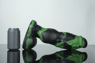 Weredog Gage Dragon Dildo Jet/Evergreen Marbled Extra Large