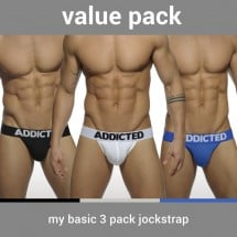 Addicted AD422P My Basic 3 Pack Jockstrap