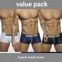 Boxerky Addicted AD477P Mesh Boxer Push Up 3 ks