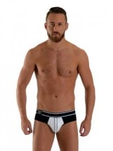 Mister B URBAN Bronx Brief Black-White