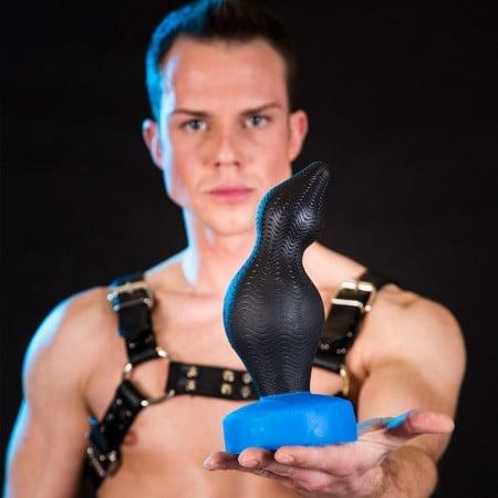 Anální kolík Bulder Stor Falun černo-modrý