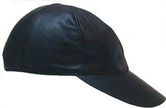 Mister B Leather Baseball Cap